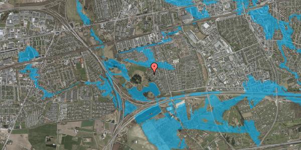Oversvømmelsesrisiko fra vandløb på Rendsagervej 247, 2625 Vallensbæk