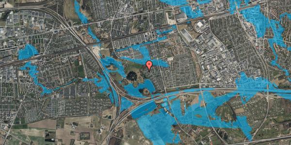 Oversvømmelsesrisiko fra vandløb på Rendsagervej 249, 2625 Vallensbæk