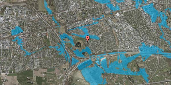Oversvømmelsesrisiko fra vandløb på Rendsagervej 253, 2625 Vallensbæk