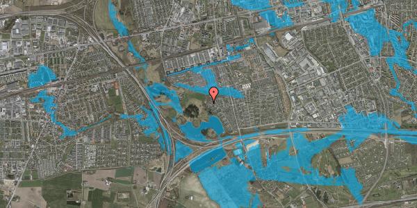 Oversvømmelsesrisiko fra vandløb på Rendsagervej 257, 2625 Vallensbæk