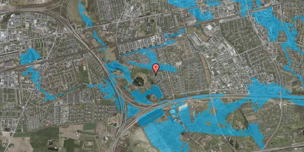 Oversvømmelsesrisiko fra vandløb på Rendsagervej 259, 2625 Vallensbæk