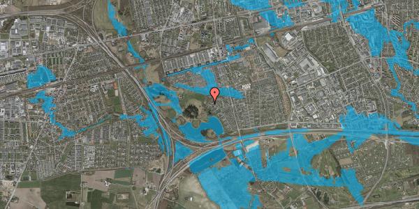 Oversvømmelsesrisiko fra vandløb på Rendsagervej 261, 2625 Vallensbæk