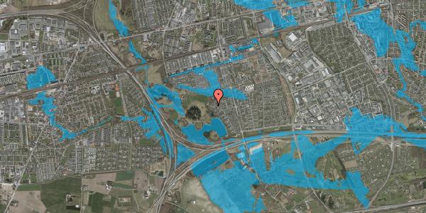 Oversvømmelsesrisiko fra vandløb på Rendsagervej 263, 2625 Vallensbæk