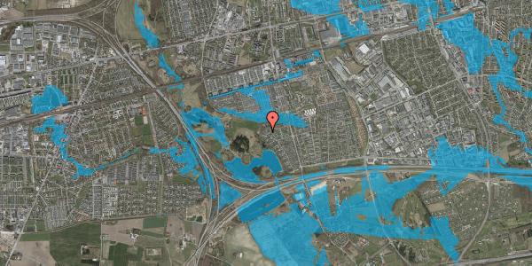 Oversvømmelsesrisiko fra vandløb på Rendsagervej 267, 2625 Vallensbæk