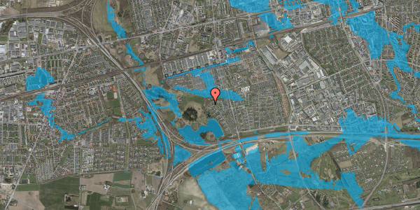 Oversvømmelsesrisiko fra vandløb på Rendsagervej 269, 2625 Vallensbæk