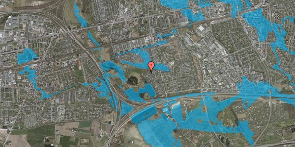 Oversvømmelsesrisiko fra vandløb på Rendsagervej 271, 2625 Vallensbæk