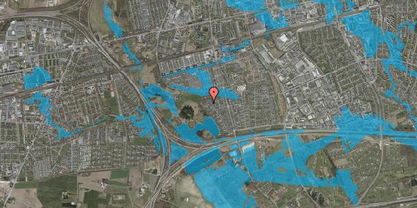 Oversvømmelsesrisiko fra vandløb på Rendsagervej 275, 2625 Vallensbæk