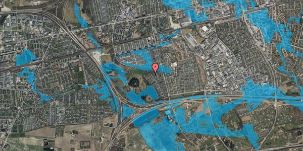 Oversvømmelsesrisiko fra vandløb på Rendsagervej 277, 2625 Vallensbæk