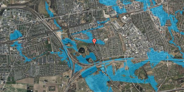 Oversvømmelsesrisiko fra vandløb på Rendsagervej 279, 2625 Vallensbæk