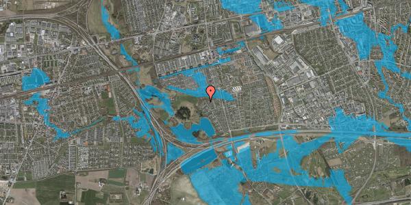 Oversvømmelsesrisiko fra vandløb på Rendsagervej 281, 2625 Vallensbæk