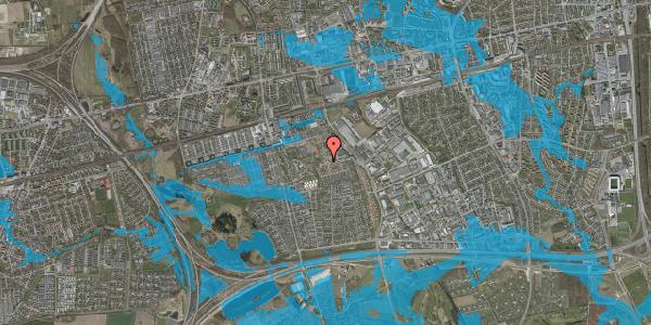 Oversvømmelsesrisiko fra vandløb på Rosenlunden 2, 2625 Vallensbæk