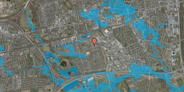 Oversvømmelsesrisiko fra vandløb på Rosenlunden 12, 2625 Vallensbæk