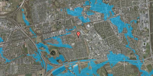 Oversvømmelsesrisiko fra vandløb på Rosenlunden 13, 2625 Vallensbæk