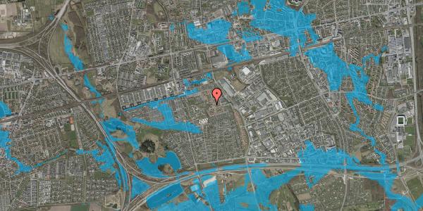 Oversvømmelsesrisiko fra vandløb på Rosenlunden 16, 2625 Vallensbæk
