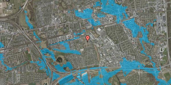 Oversvømmelsesrisiko fra vandløb på Rosenlunden 21, st. tv, 2625 Vallensbæk