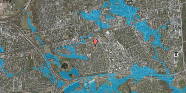 Oversvømmelsesrisiko fra vandløb på Rosenlunden 22, 1. mf, 2625 Vallensbæk