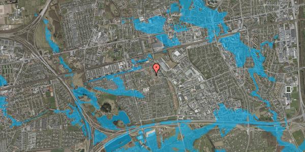 Oversvømmelsesrisiko fra vandløb på Rosenlunden 22, 1. th, 2625 Vallensbæk