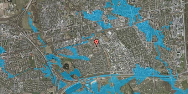 Oversvømmelsesrisiko fra vandløb på Rosenlunden 27, 2625 Vallensbæk