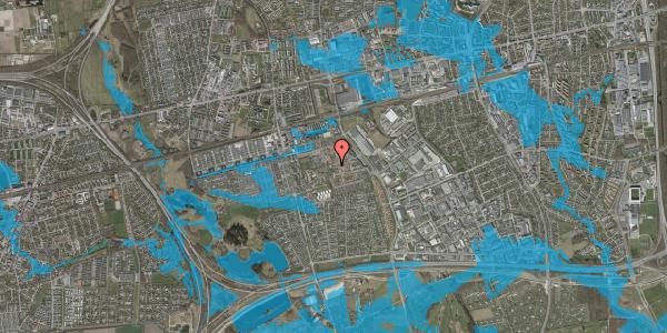 Oversvømmelsesrisiko fra vandløb på Rosenlunden 34, 2625 Vallensbæk