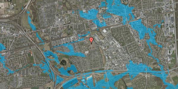 Oversvømmelsesrisiko fra vandløb på Rosenlunden 35, 2625 Vallensbæk