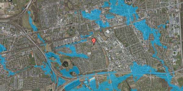 Oversvømmelsesrisiko fra vandløb på Rosenlunden 38, 2625 Vallensbæk