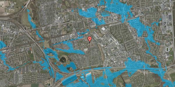 Oversvømmelsesrisiko fra vandløb på Rosenlunden 54, 2625 Vallensbæk