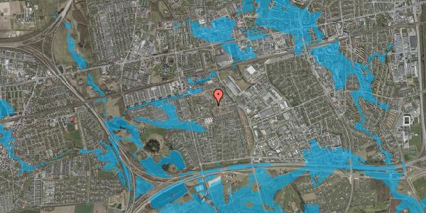 Oversvømmelsesrisiko fra vandløb på Rosenlunden 55, 2625 Vallensbæk