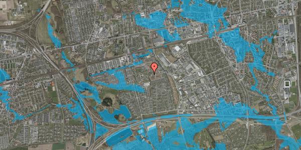 Oversvømmelsesrisiko fra vandløb på Rosenlunden 61, 2625 Vallensbæk