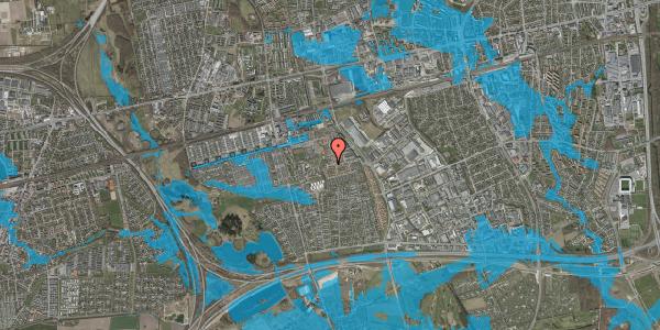 Oversvømmelsesrisiko fra vandløb på Rosenlunden 68, 2625 Vallensbæk