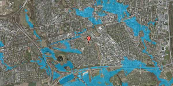 Oversvømmelsesrisiko fra vandløb på Rosenlunden 73, 2625 Vallensbæk