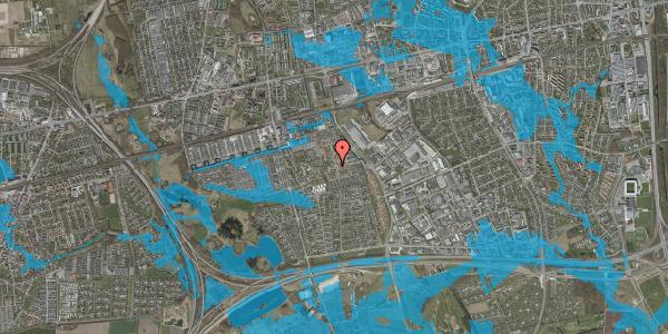 Oversvømmelsesrisiko fra vandløb på Rosenlunden 74, 2625 Vallensbæk
