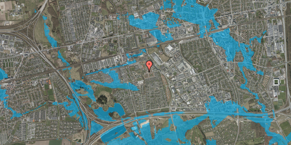 Oversvømmelsesrisiko fra vandløb på Rosenlunden 75, 2625 Vallensbæk