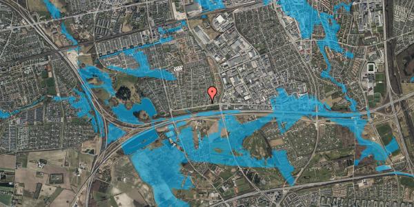 Oversvømmelsesrisiko fra vandløb på Syvhøjvænge 3, 2625 Vallensbæk