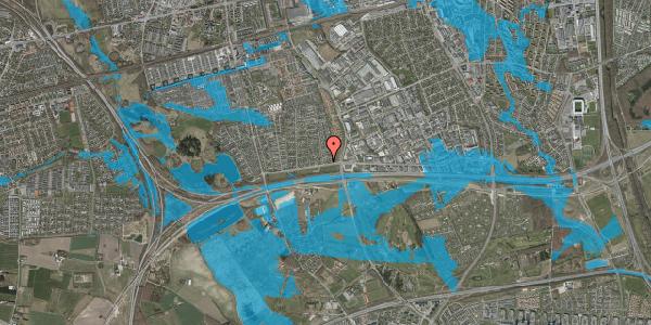 Oversvømmelsesrisiko fra vandløb på Syvhøjvænge 4, 2625 Vallensbæk