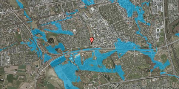 Oversvømmelsesrisiko fra vandløb på Syvhøjvænge 10, 2625 Vallensbæk