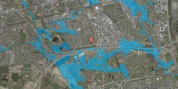 Oversvømmelsesrisiko fra vandløb på Syvhøjvænge 13, 2625 Vallensbæk