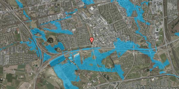 Oversvømmelsesrisiko fra vandløb på Syvhøjvænge 14, 2625 Vallensbæk