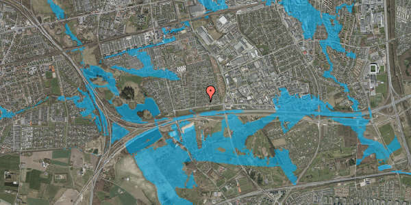 Oversvømmelsesrisiko fra vandløb på Syvhøjvænge 17, 2625 Vallensbæk