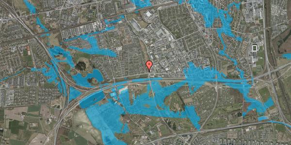 Oversvømmelsesrisiko fra vandløb på Syvhøjvænge 20, 2625 Vallensbæk