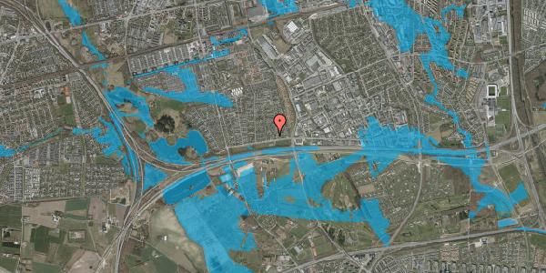 Oversvømmelsesrisiko fra vandløb på Syvhøjvænge 23, 2625 Vallensbæk