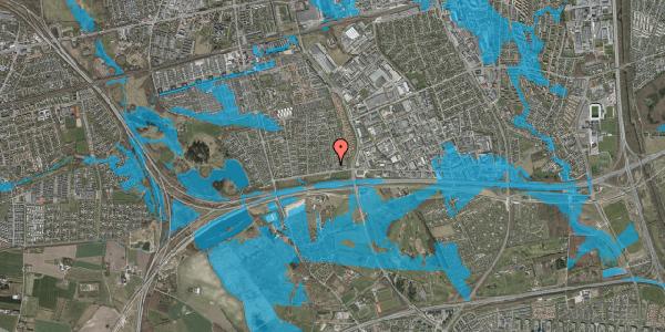 Oversvømmelsesrisiko fra vandløb på Syvhøjvænge 27, 2625 Vallensbæk