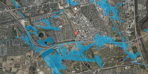 Oversvømmelsesrisiko fra vandløb på Syvhøjvænge 28, 2625 Vallensbæk