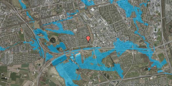 Oversvømmelsesrisiko fra vandløb på Syvhøjvænge 35, 2625 Vallensbæk