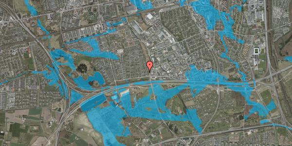 Oversvømmelsesrisiko fra vandløb på Syvhøjvænge 36, 2625 Vallensbæk