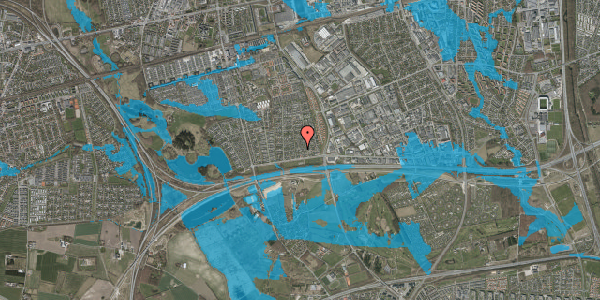 Oversvømmelsesrisiko fra vandløb på Syvhøjvænge 37, 2625 Vallensbæk