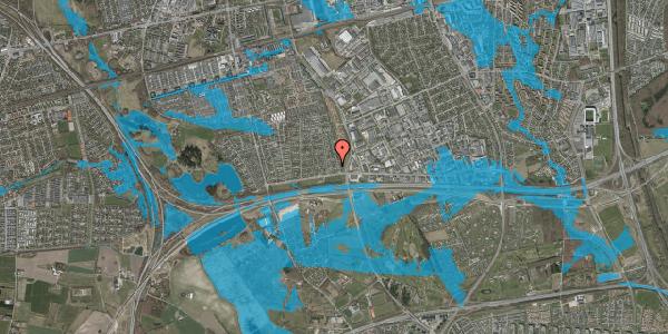 Oversvømmelsesrisiko fra vandløb på Syvhøjvænge 38, 2625 Vallensbæk