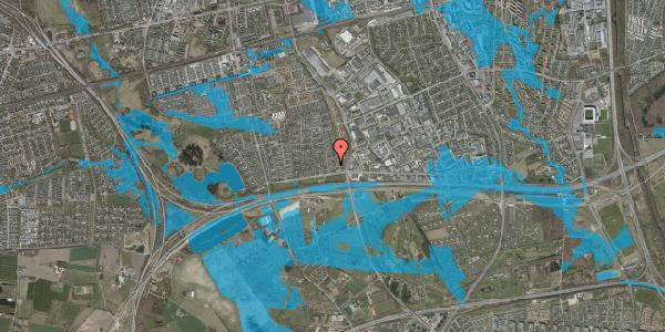Oversvømmelsesrisiko fra vandløb på Syvhøjvænge 40, 2625 Vallensbæk