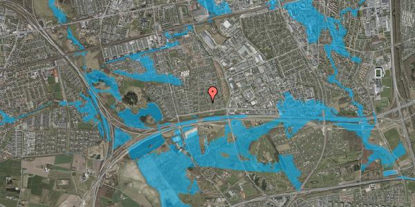 Oversvømmelsesrisiko fra vandløb på Syvhøjvænge 43, 2625 Vallensbæk