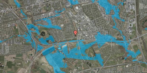 Oversvømmelsesrisiko fra vandløb på Syvhøjvænge 46, 2625 Vallensbæk