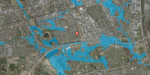 Oversvømmelsesrisiko fra vandløb på Syvhøjvænge 47, 2625 Vallensbæk